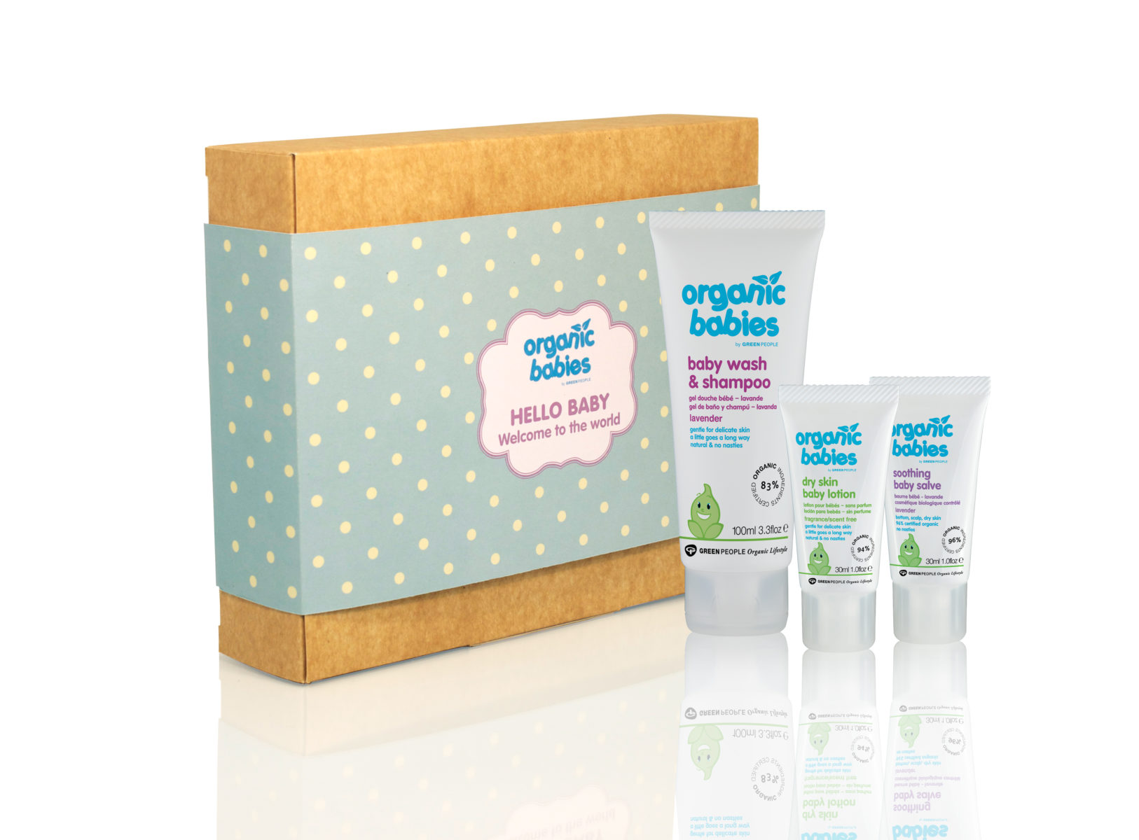Organic Baby Gift Sets great for Baby Showers and Birthdays.